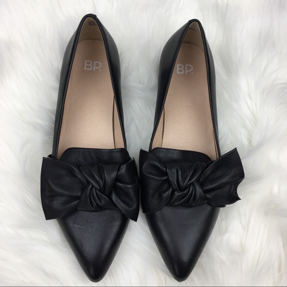 4f20752b0ad bp Shoes - NWOB BP. Black Leather Kari Bow Loafer